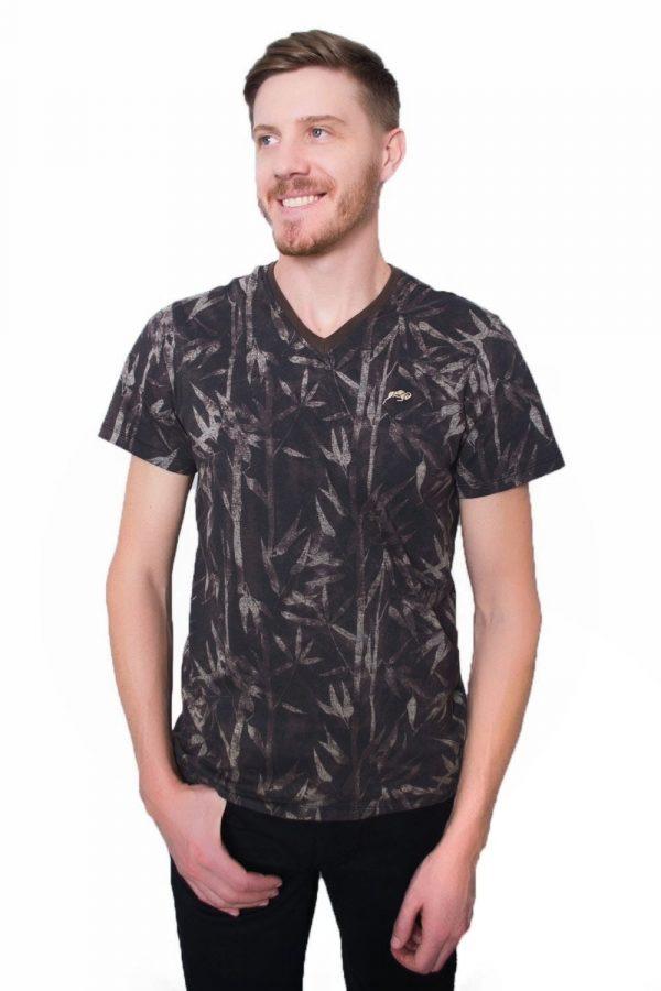 Camiseta Argali Prime Floral Autumn Marrom (lado)