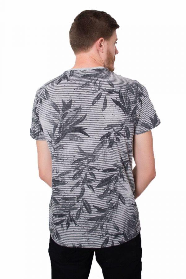 Camiseta Argali Prime Floral Cinza Mescla (costas)