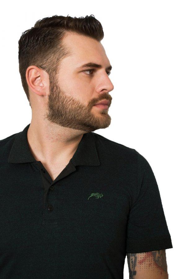 Polo Argali On Slim Verde Cold (detalhe)