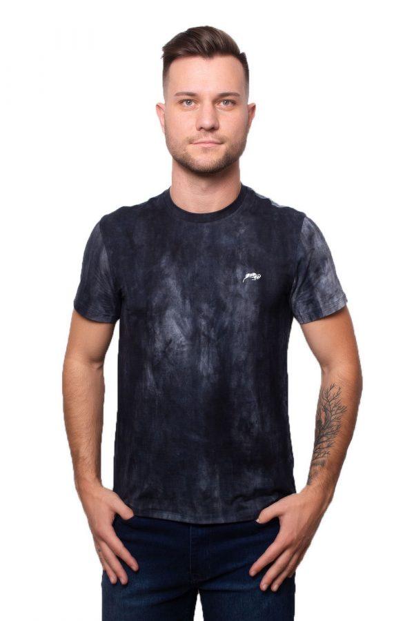 Camiseta Argali Prime Tie Dye Marinho (frente)