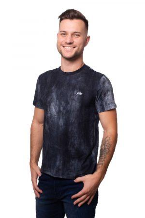 Camiseta Argali Prime Tie Dye Marinho (lado)