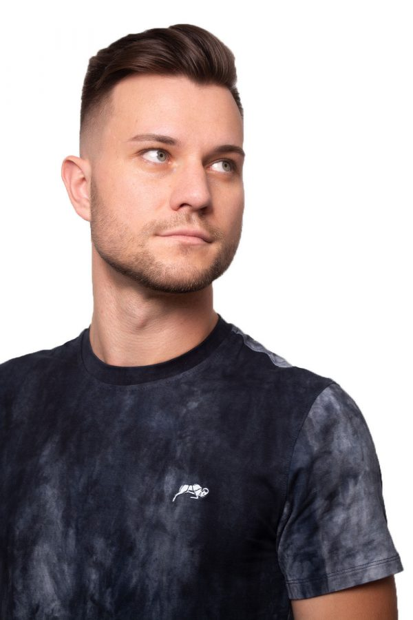 Camiseta Argali Prime Tie Dye Marinho (detalhe)