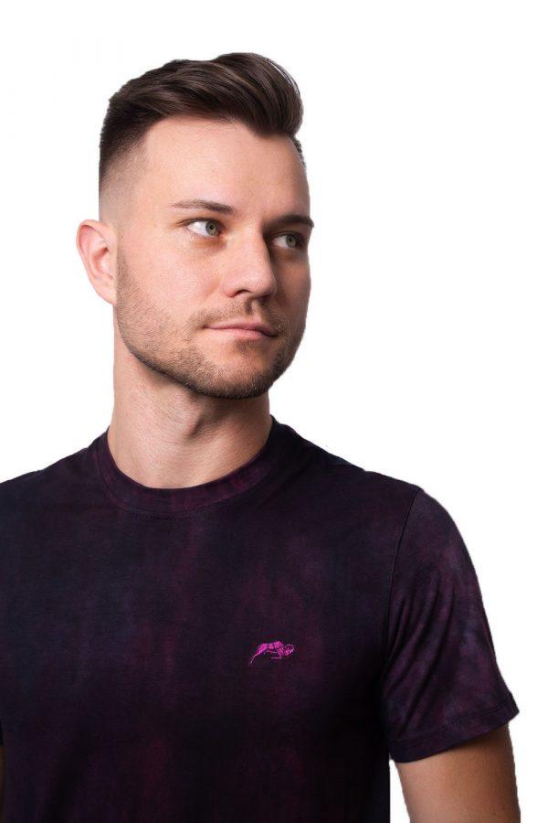 Camiseta Argali Prime Tie Dye Roxo (detalhe)