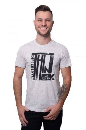 Camiseta Argali Prime Think Differently Cinza Mescla